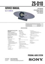 Buy Sony ZS-D10 Service Manual by download Mauritron #241967
