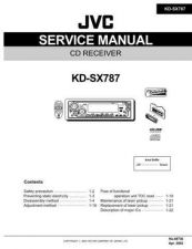 Buy JVC KD-SX787 Service Manual Schematic Circuit. by download Mauritron #271621