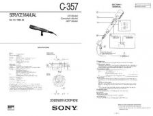 Buy Sony C-357 Manual by download Mauritron #228952