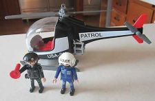 Buy Playmobil Police Helicopter Set #3324 2 Figures Great Condition