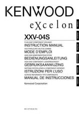 Buy Kenwood XXV-04S Operating Guide by download Mauritron #220014