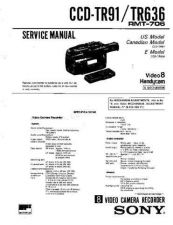 Buy Sony CCD-TR913ETR950E Manual by download Mauritron #229021
