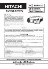 Buy Hitachi CPX1250 Service Manual Schematics by download Mauritron #205909