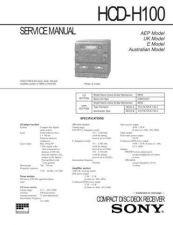 Buy Sony HCD-H100 Manual by download Mauritron #229169
