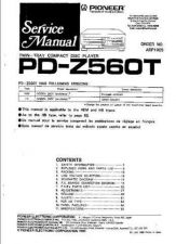 Buy PIONEER PDZ560T Service Ma by download #106269