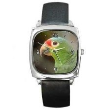 Buy Parrot Green Amazon Pet Bird Unisex Wrist Watch NEW