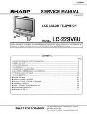 Buy Sharp LC22SV6U Service Manual by download Mauritron #209017