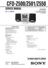 Buy Sony CFD-Z500Z501Z550 Service Manual by download Mauritron #238855