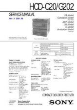 Buy Sony HCD-C20 Service Manual by download Mauritron #240890
