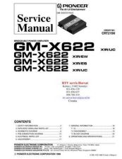 Buy PIONEER GMX622 GMX522 CRT2190 Technical Information by download #119262