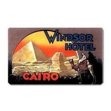 Buy Cairo Egypt Windsor Hotel Retro Travel Art Vinyl Magnet