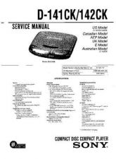 Buy Sony D141.143 Service Manual by download Mauritron #239385