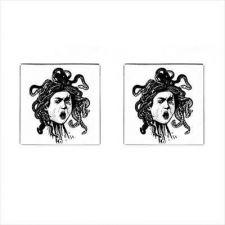 Buy Medusa Snake Head Caravaggio Art New Square Cufflinks