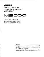 Buy Yamaha M3000E2 Operating Guide by download Mauritron #248576