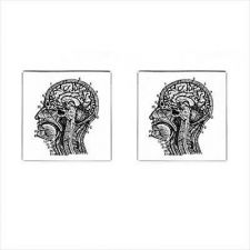 Buy Vintage Anatomy Human Head Mens Square Cufflinks