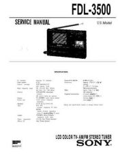 Buy Sony FDL-PT22 US Technical Information by download Mauritron #235659