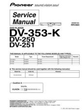 Buy Pioneer dv-250-12 Service Manual by download Mauritron #233979