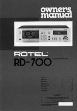 Buy ROTEL RD700 Manual by download Mauritron #230392