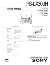 Buy Sony PS-LX300H Service Information by download Mauritron #237993