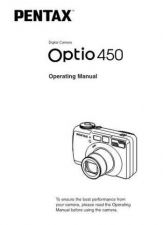 Buy PENTAX OPTIO450 ENG CAMERA INSTRUCTIONS by download #119108