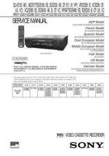 Buy SONY SLVE130, 180, 230 ETC VID SERVICE MANUAL A6918 B4 Technical Info by downlo