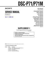 Buy Sony DSC-P8-4 Service Manual by download Mauritron #240280