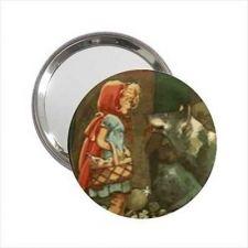 Buy Little Red Riding Hood Art Round Handbag Purse Mirror