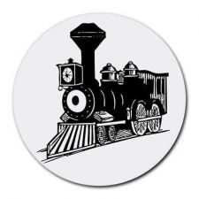 Buy Steam Train Locomotive Round Computer Mouse Pad