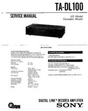 Buy Sony TA-DL100.. Service Manual. by download Mauritron #245242