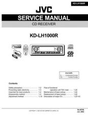Buy JVC KD-LH1000R Service Manual Schematic Circuit. by download Mauritron #271425