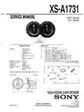 Buy Sony XS-A1731 Service Manual. by download Mauritron #246336