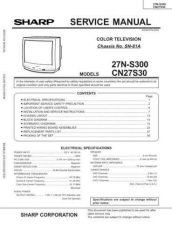 Buy Sharp 27NS300-CN27S30 (1) Service Manual by download Mauritron #207519