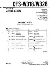 Buy Sony CFS-W318-328. Service Manual by download Mauritron #238975