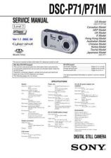 Buy Sony DSC-P8 Service Manual by download Mauritron #240277