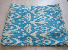 Buy indian kantha cotton fabric iket print quilt rally 60*90 size gudari bedspeard
