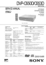 Buy Sony DVP-C650DC653D Service Manual by download Mauritron #240478