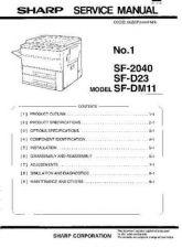 Buy Sharp SF2040-D23-DM11 SM DE(1) Service Manual by download Mauritron #209643