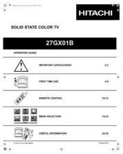 Buy Hitachi 27GX01B Service Manual by download Mauritron #223990