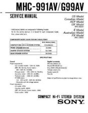Buy Sony MHC-G991AV Manual by download Mauritron #229676