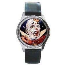 Buy Circus Clown Pointing Unisex Round Wrist Watch