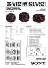 Buy Sony XS-W1321-W1621-W6921 Service Manual. by download Mauritron #246455