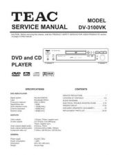 Buy Teac DV-3100VK Service Manual by download Mauritron #223678