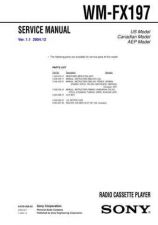 Buy Sony WM-FX197 Service Manual by download Mauritron #233449