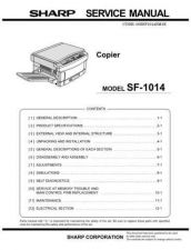 Buy Sharp SF-1014 Service Manual by download Mauritron #231439