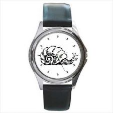 Buy Snail Black and White Round Wrist Watch New