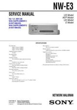 Buy Sony NW-E3 Service Manual by download Mauritron #241831