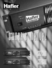 Buy HAFLER SR2300 SR2600 Manual by download Mauritron #230023