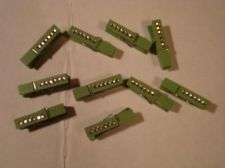 Buy Green Bling Clothespins Crafts Scrapbooking Embellishments