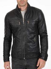 Buy New Men Lambskin Leather Jacket Male Motorcycle Biker Coat Size XS S M L XL K763