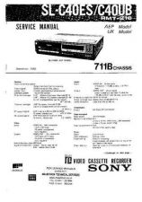 Buy SONY 711B CHASSIS VIDEO SERVICE (11384) Technical Info by download #104648
